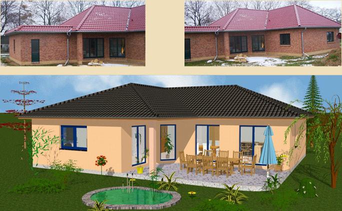 lbb massivhaus bungalow schl sselfertig bauen mecklenburg vorpommern typ sanitz. Black Bedroom Furniture Sets. Home Design Ideas